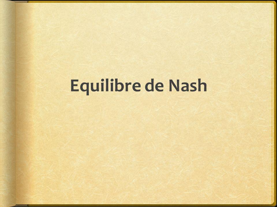 Equilibre de Nash