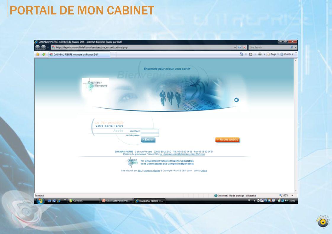 PORTAIL DE MON CABINET