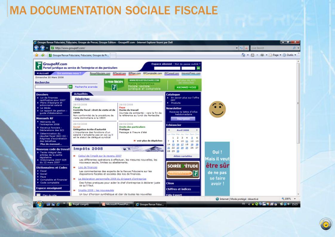 MA DOCUMENTATION SOCIALE FISCALE