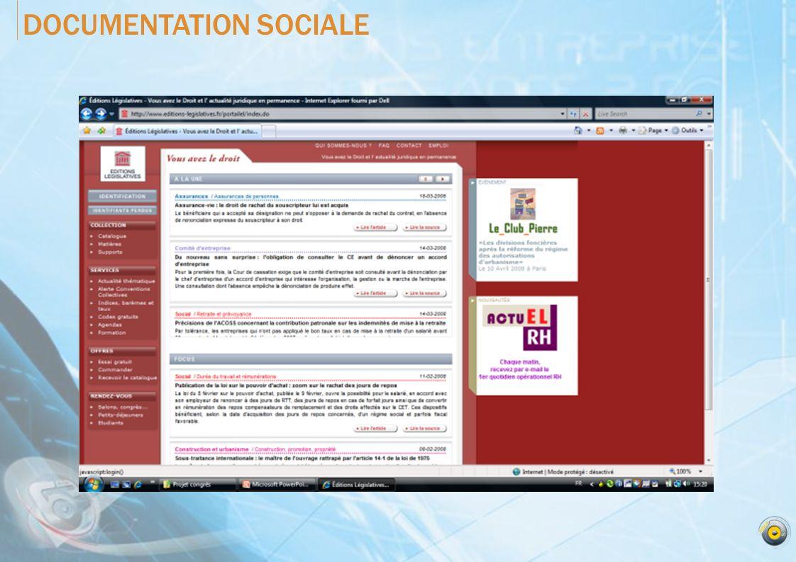 DOCUMENTATION SOCIALE