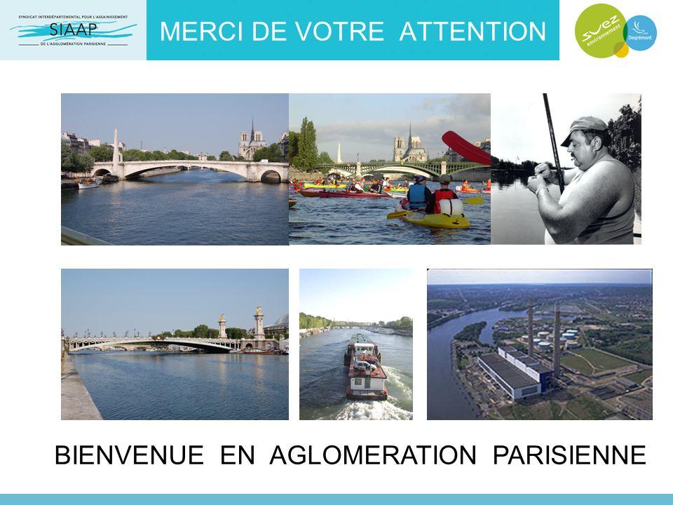 MERCI DE VOTRE ATTENTION BIENVENUE EN AGLOMERATION PARISIENNE