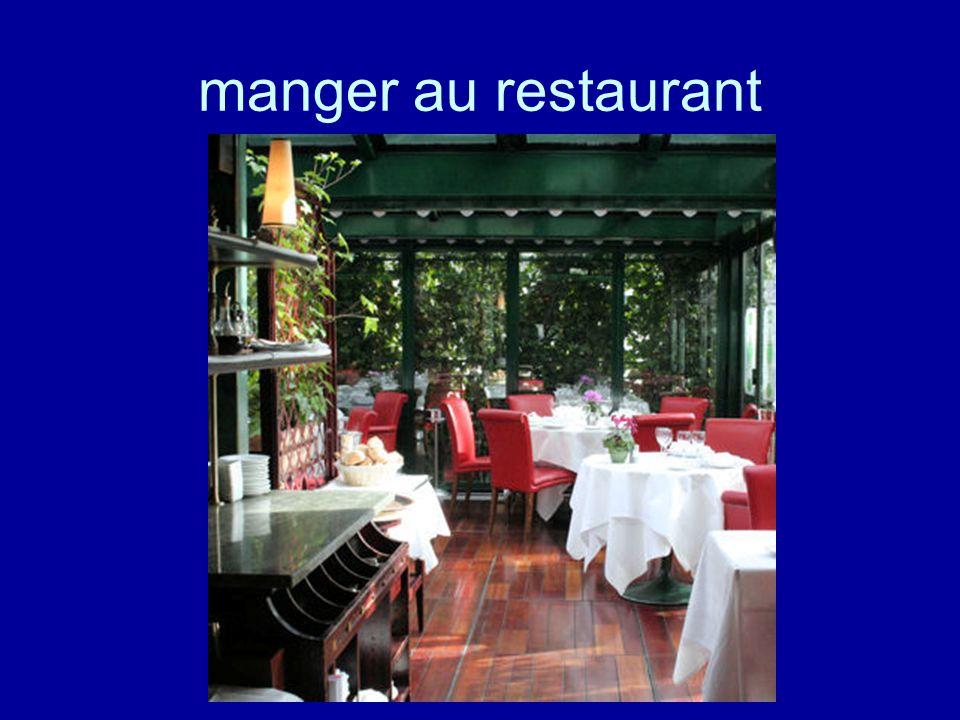 manger au restaurant