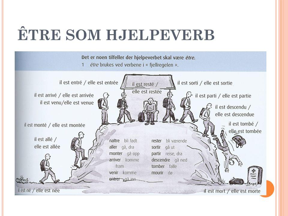 ÊTRE SOM HJELPEVERB
