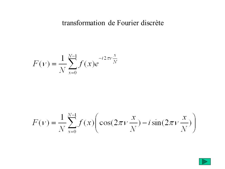 transformation de Fourier discrète