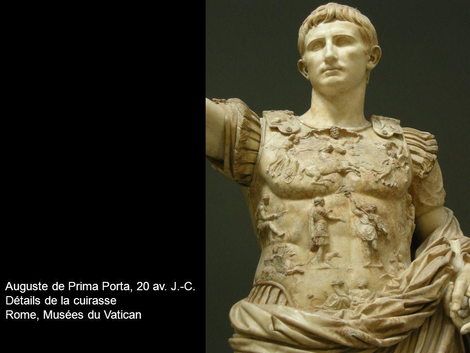 Auguste de Prima Porta, 20 av. J.-C. Détails de la cuirasse Rome, Musées du Vatican