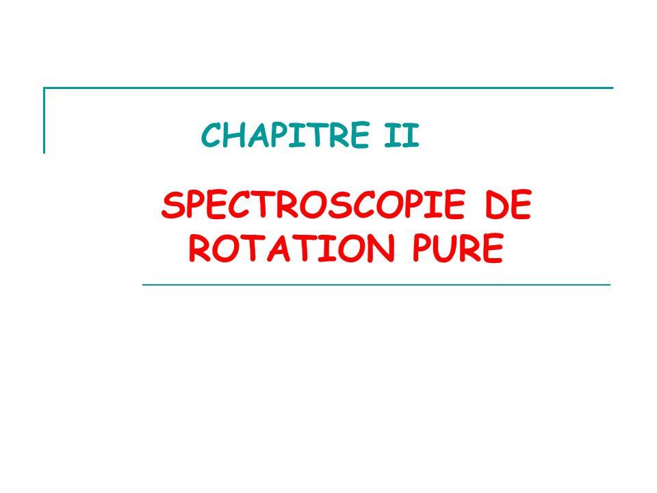 Une molécule peut absorber ou émettre une radiation en acquérant un mouvement de rotation autour de son centre de gravité.