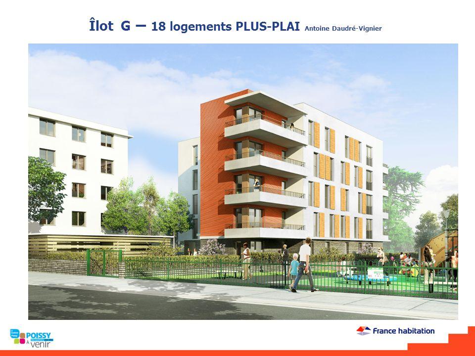 Îlot S - 35 logements PLUS-CD Plan étage courant