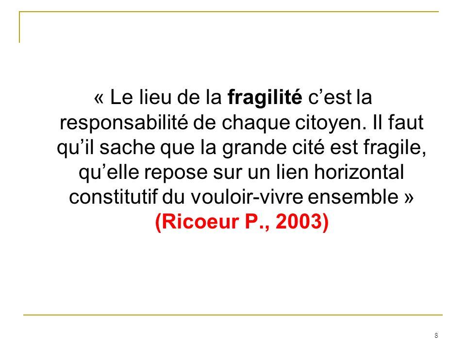 « Le lieu de la fragilité cest la responsabilité de chaque citoyen.