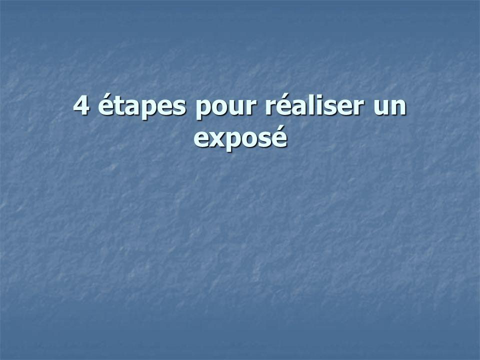 4 étapes pour réaliser un exposé