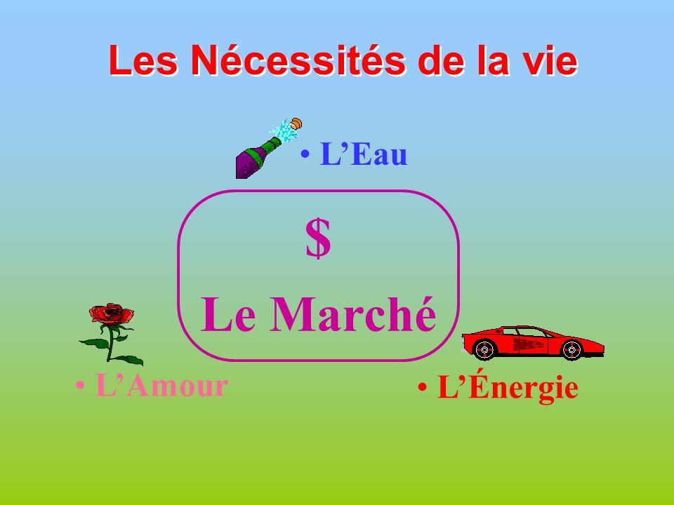 Les Nécessités de la vie LEau LAmour LÉnergie $ Le Marché