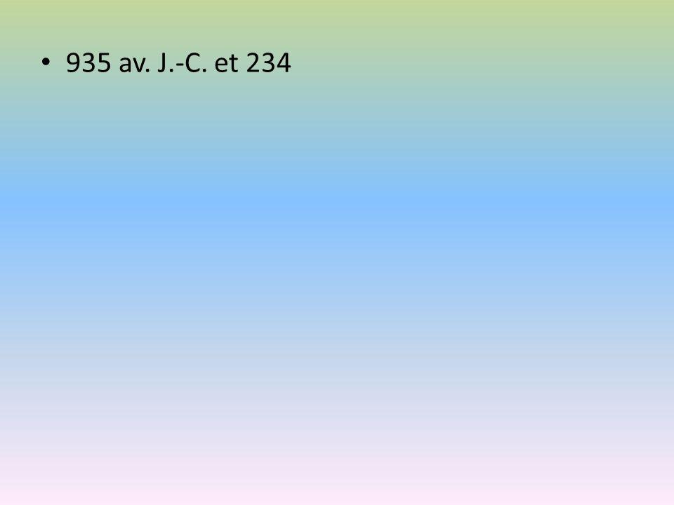 935 av. J.-C. et 234