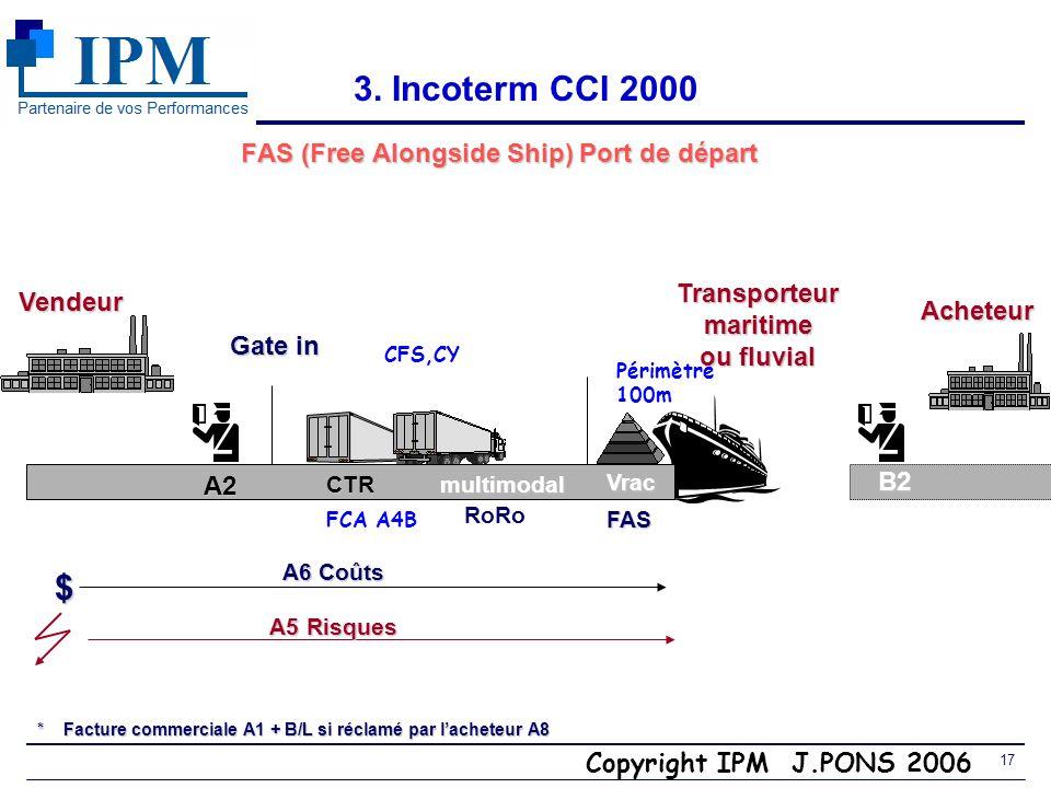 Copyright IPM J.PONS 2006 16 3. Il y a deux FCA en fonction du point de livraison Obligation A4 Livraison a)Locaux du vendeur : Quelles sont les diffé