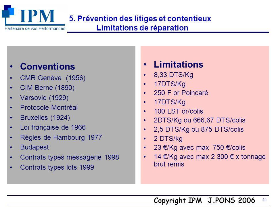 Copyright IPM J.PONS 2006 39 3. Exercices : Vous êtes acheteur STRATEGIE COMMERCIALE Vous achetez par avion à laéroport de Narita Tokyo et avez un acc