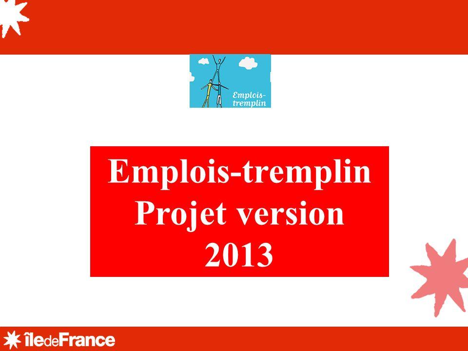 Emplois-tremplin Projet version 2013