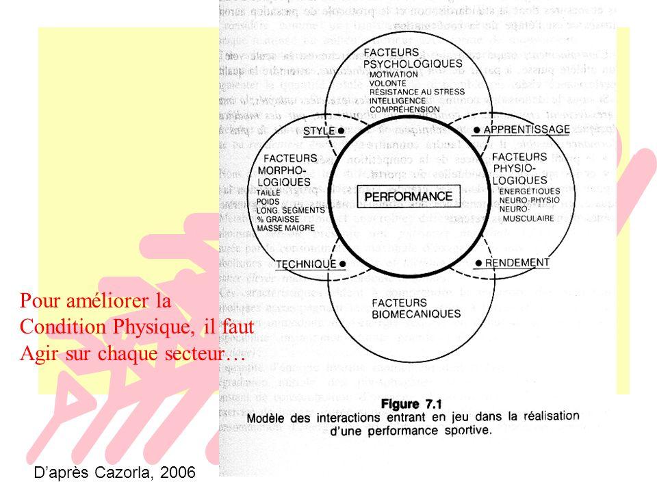 Weineck, 1997 Les composants biologiques des qualités physiques