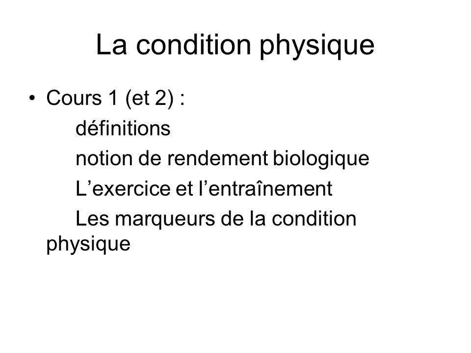 La condition physique