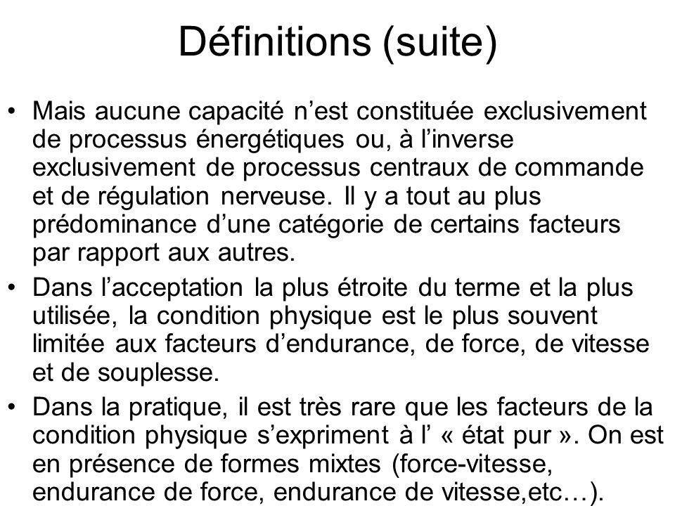 STRUCTURE DE LA CONDITION PHYSIQUE DU SPORTIF Figure 2 Daprès J. Weineck (1997) FACTEURS PHYSIQUES FACTEURS PSYCHIQUES Facteurs constitutionnels Et fa