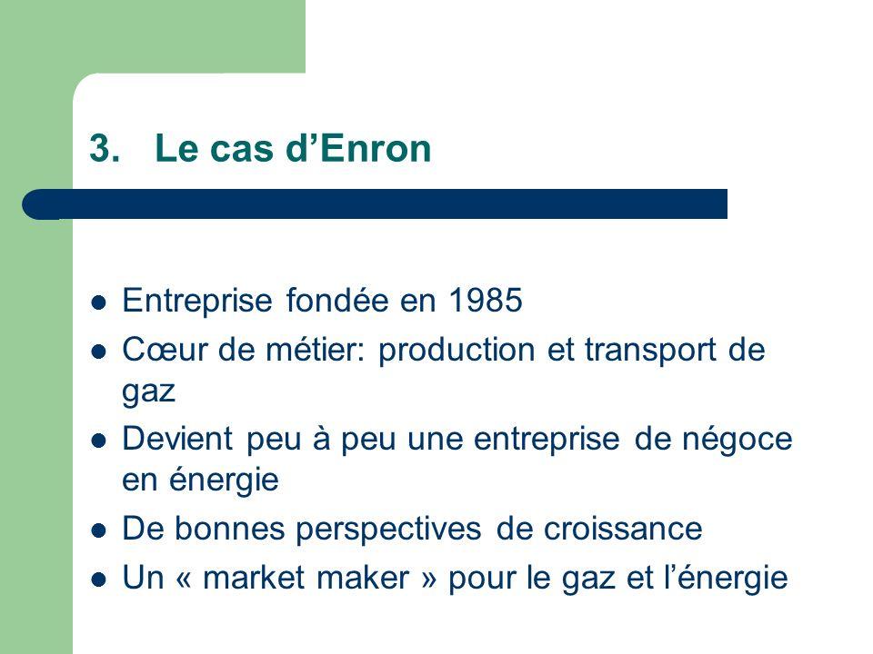 Entreprise fondée en 1985 Cœur de métier: production et transport de gaz Devient peu à peu une entreprise de négoce en énergie De bonnes perspectives de croissance Un « market maker » pour le gaz et lénergie