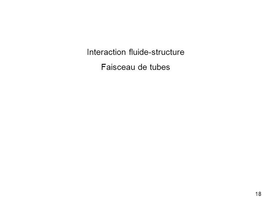 18 Interaction fluide-structure Faisceau de tubes