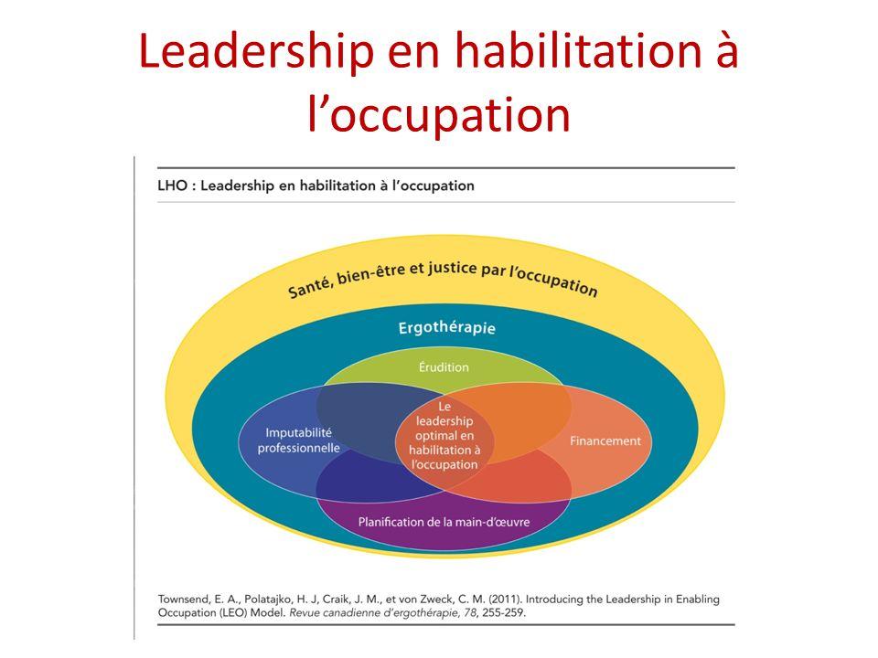 Leadership en habilitation à loccupation