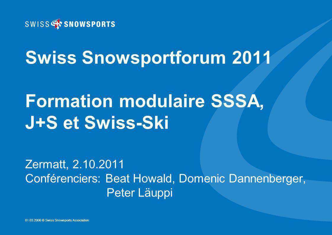 Seite 2 Cours moniteurs J+S Formation dadmission, Kids-Instructor Cours moniteur J+S Formation modulaire SSSA, J+S et Swiss-Ski