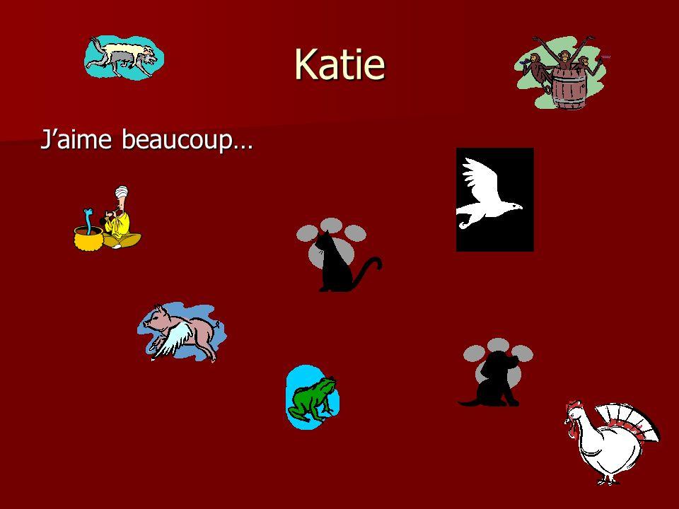 Jaime les chevaux,les chiens, les chats, les poissons,, Aly et Aj lécole,les lapins et ma famille Sarah Claude LÉcuyer