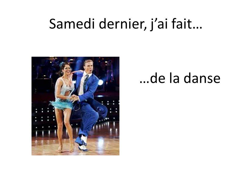 …de la danse
