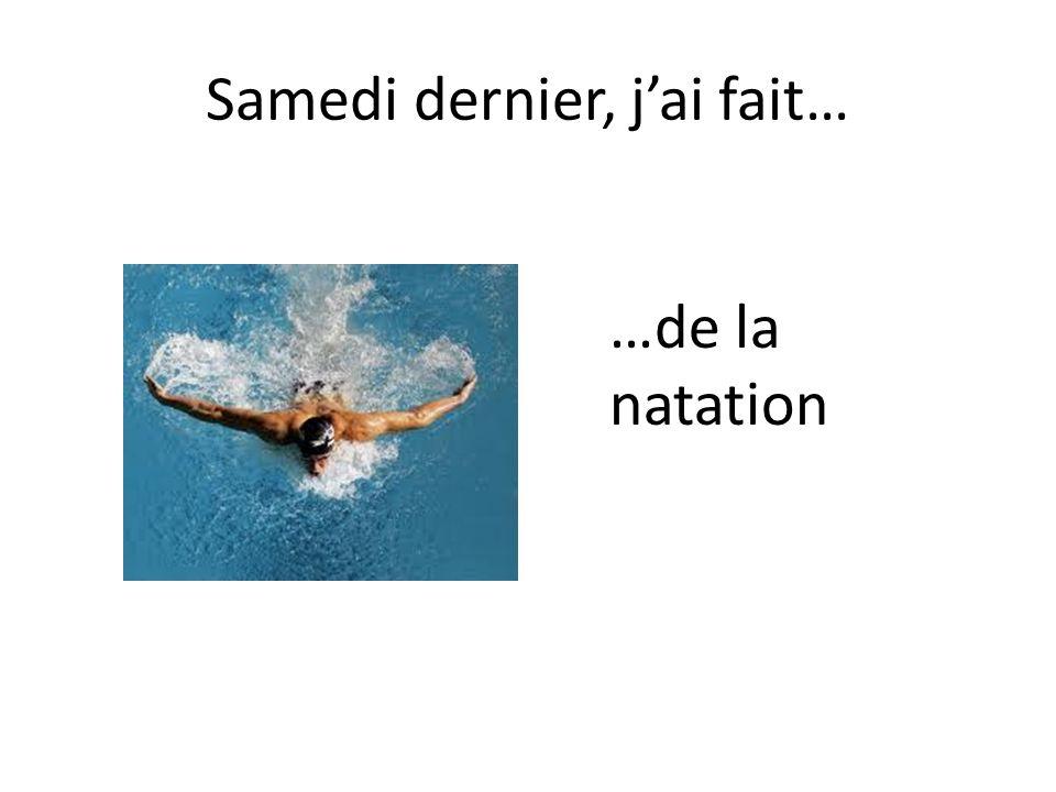 …de la natation