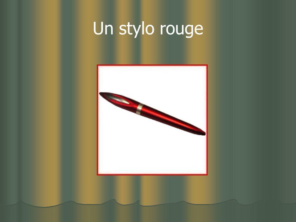 Un stylo rouge