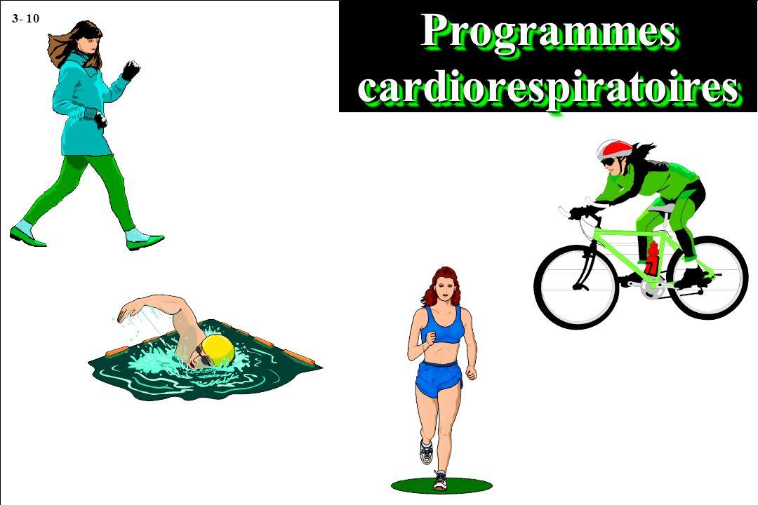 3- 10 Programmes cardiorespiratoires