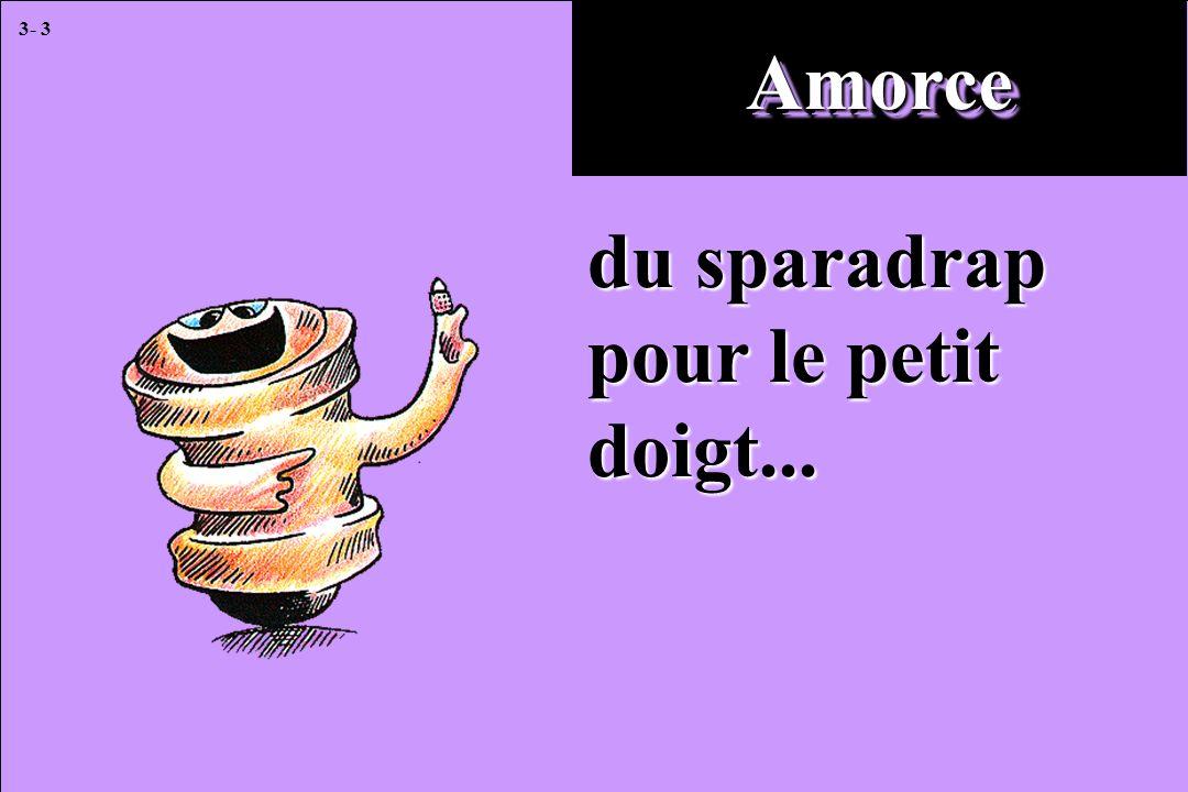 3- 3 AmorceAmorce du sparadrap pour le petit doigt...