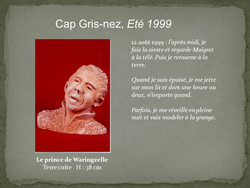 12 août 1999 : laprès midi, je fais la sieste et regarde Maigret à la télé. Puis je retourne à la terre. Quand je suis épuisé, je me jette sur mon lit