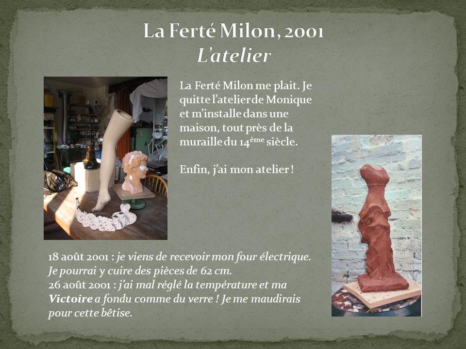 La Ferté Milon me plait. Je quitte latelier de Monique et minstalle dans une maison, tout près de la muraille du 14 ème siècle. Enfin, jai mon atelier