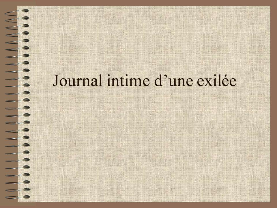 Journal intime dune exilée