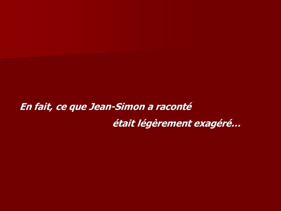On t'écoute Jean-Simon