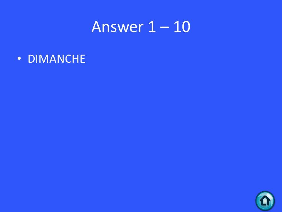 Question 4 - 20 Le crayon est jaune.