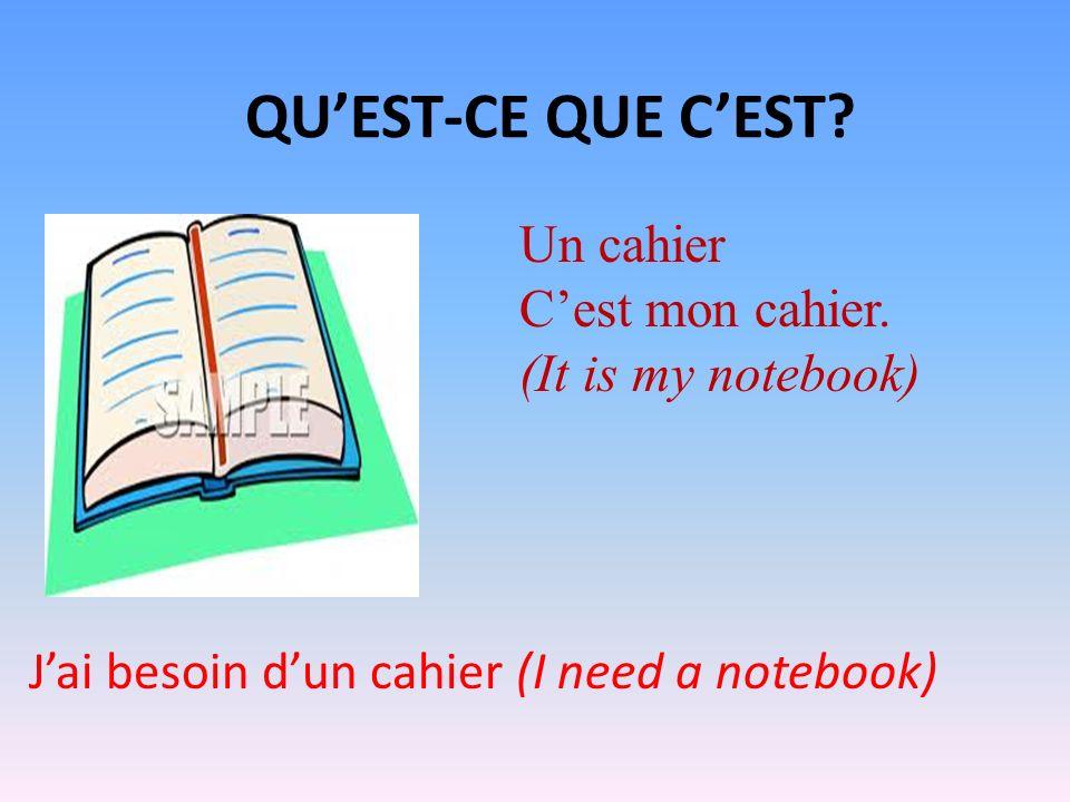 QUEST- CE QUE CEST? Cest une fenêtre (It is a window) Cest une porte (It is a door)