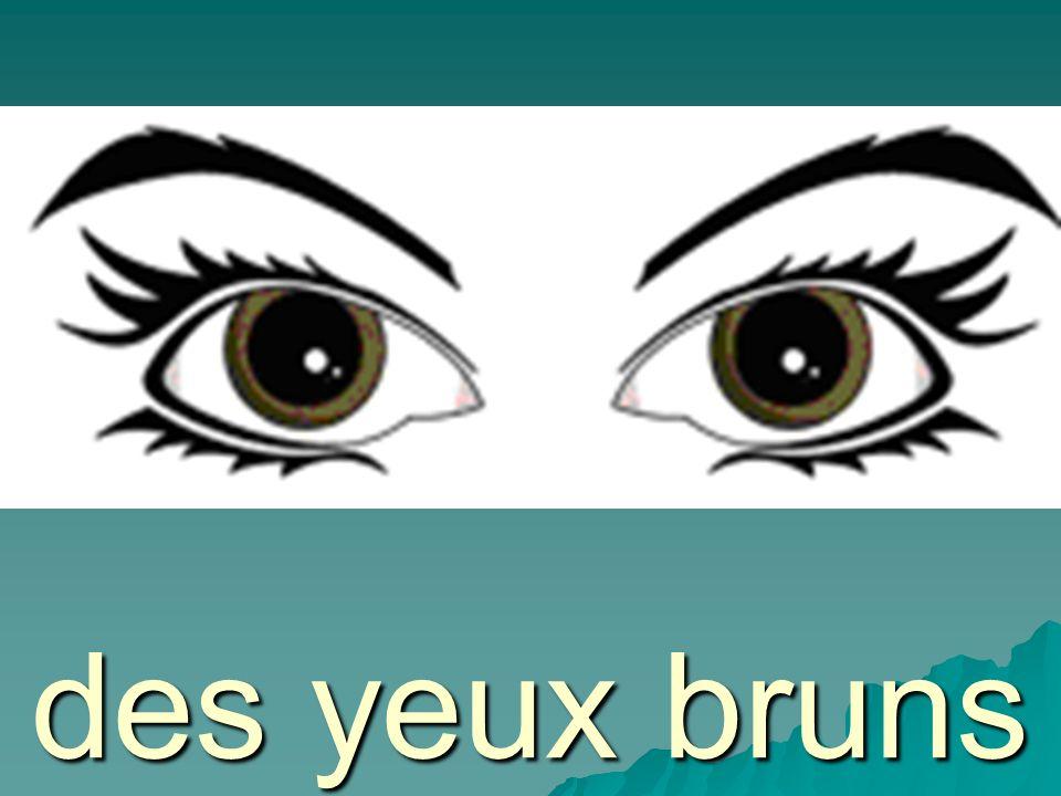 des yeux bleus