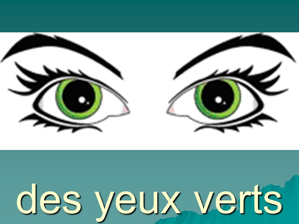 des yeux bruns