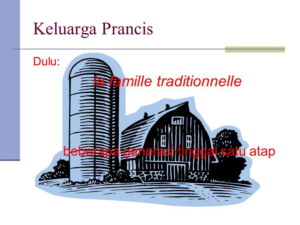 Keluarga Prancis Dulu: la famille traditionnelle beberapa generasi tinggal satu atap