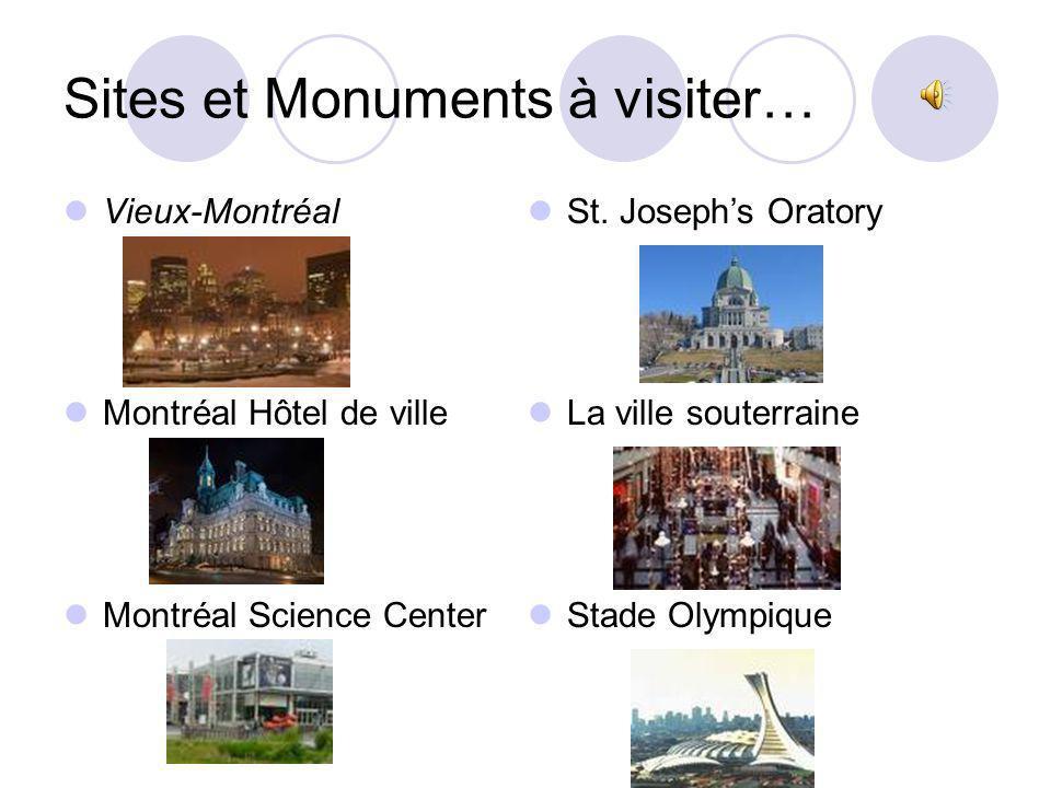 Restaurant à visiter… Miso Restaurant & Sushi Bar https://go.restaurantmiso.com/menu.php Miso Restaurant & Sushi Bar 4000 Ste-Catherine West, Montreal (514) 908-6476 Il Campari Centro http://www.bar-resto.com/campari/index.html Il Campari Centro 1177 rue de la Montagne, Montreal (514) 868-1177 Angus Beef Restaurant http://www.bar-resto.com/angus/index.html Angus Beef Restaurant 1218 Drummond, Montreal (514) 868-1666 Budget à manger : 300