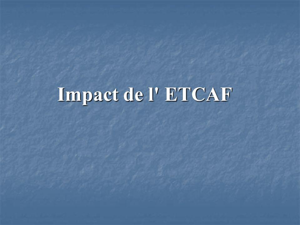 Impact de l ETCAF