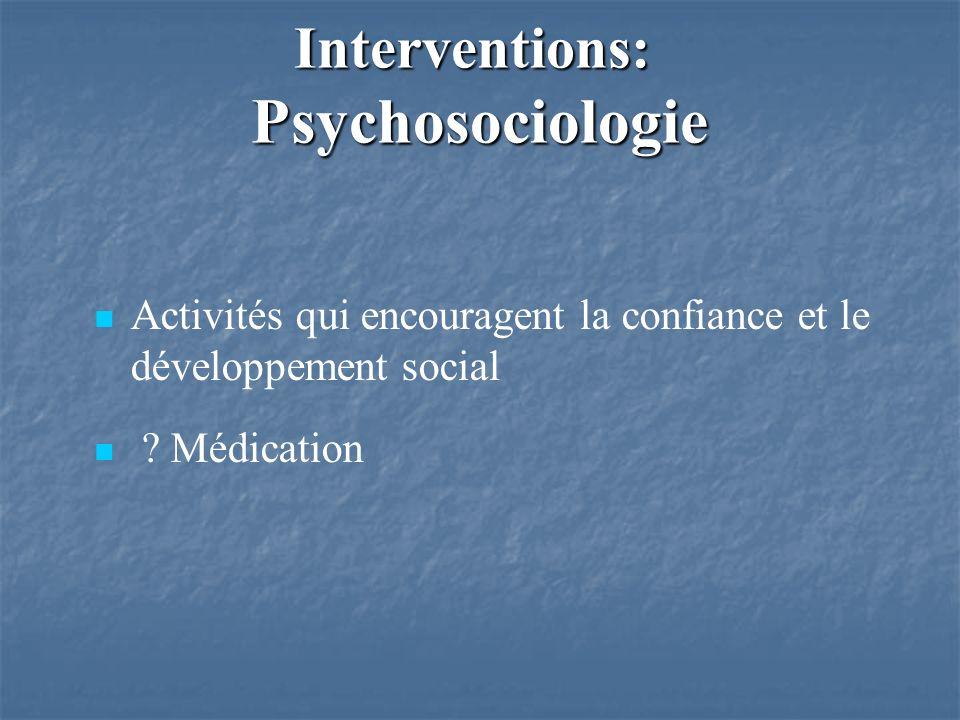 Activités qui encouragent la confiance et le développement social .