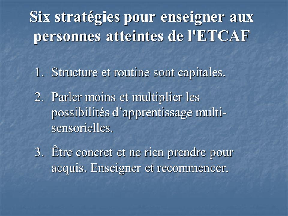 1.Structure et routine sont capitales.