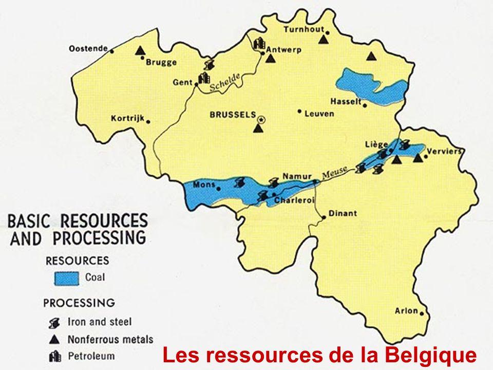 Les lignes ferroviaires vers 1900Les ressources de la Belgique