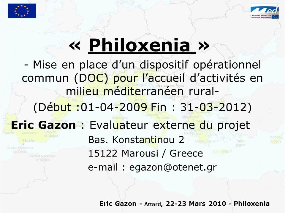 Eric Gazon - Attard, 22-23 Mars 2010 - Philoxenia (I.4) Ladaptation du DOC-cadre au contexte local (Oct.-Nov.-Déc.