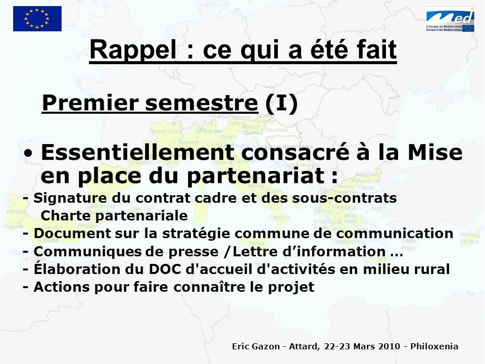Et ensuite … Les accompagnements (III) Les éléments à fournir pour une évaluation pourraient être rediscuter au séminaire de formation des accompagnateurs (Fin avril 2010).
