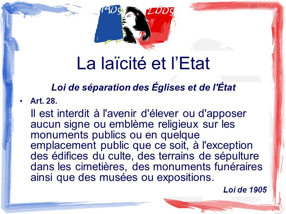 La laïcité et lEtat CONSTITUTION DU 4 OCTOBRE 1958 Préambule Le Peuple français proclame solennellement son attachement aux Droits de l Homme et aux principes de la souveraineté nationale tels qu ils sont définis par la Déclaration de 1789, confirmée et complétée par le préambule de la Constitution de 1946.