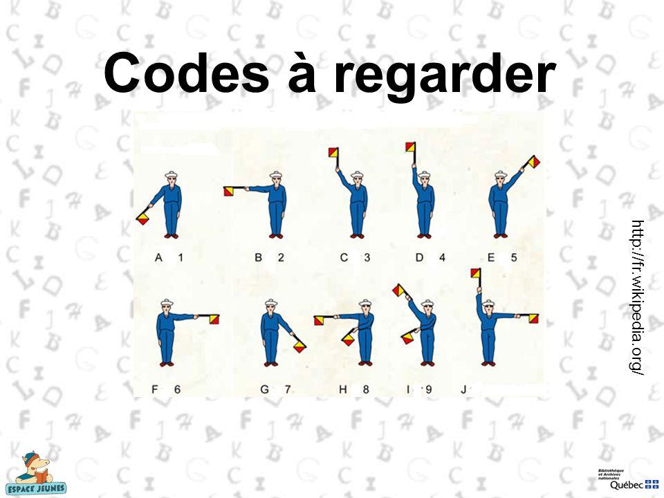 Codes à regarder http://fr.wikipedia.org/