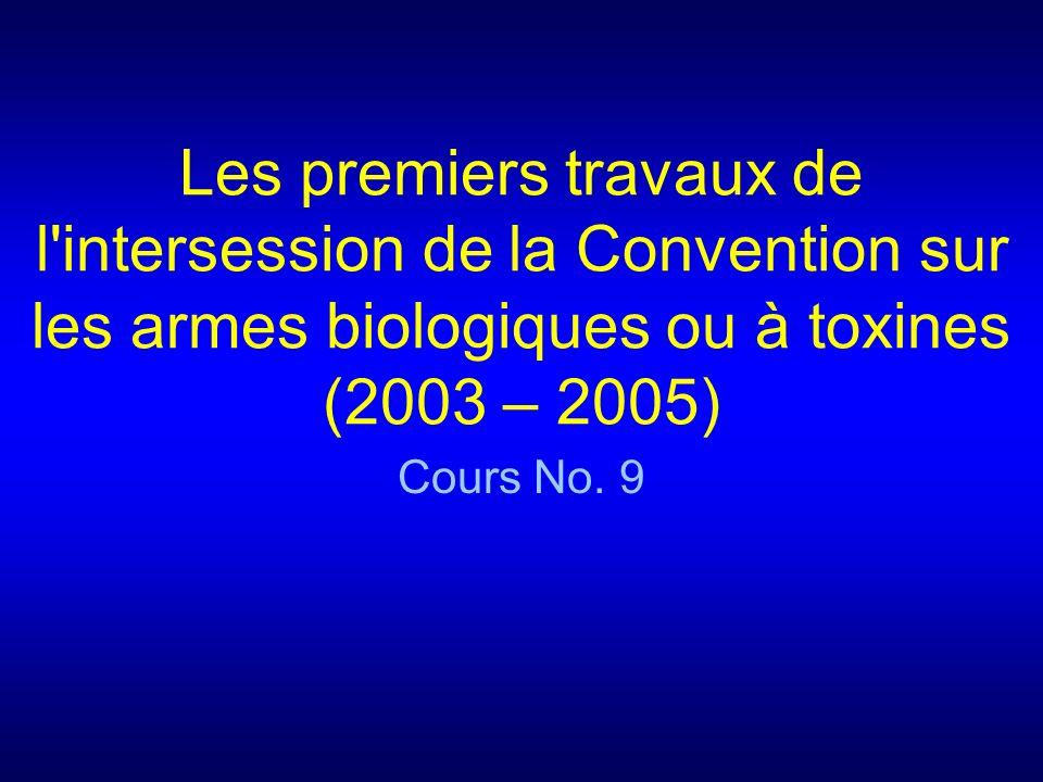 11.Les séances de 2003 (ii) Les États parties sont convenus...